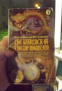 My original copy of the Warlock of Firetop Mountain