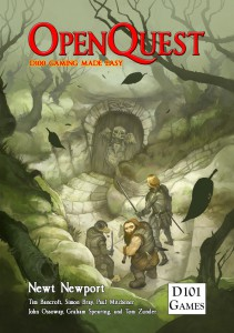 Jon Hodgson's OpenQuest cover that graced the 1st Editon and the current OpenQuest 2 Basic Edition