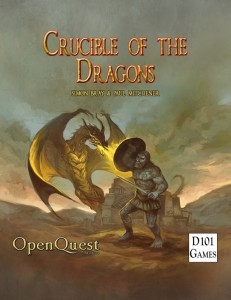 Crucible of Dragons cover by Jon Hodgson