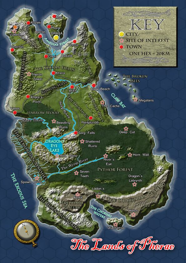 Here Be Dragons Map by Simon Bray