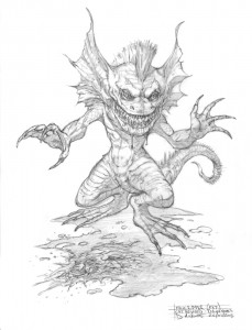 Sketch of Face Ripper by David M. Wright