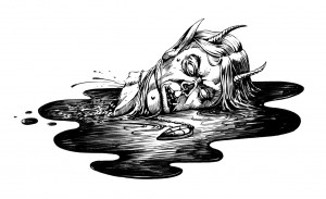 P25 - Severed Head - Ink (Lo-Res) - DMWright