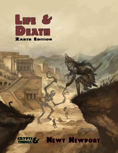 Life and Death Zarth Editon - cover by Jon Hodgson