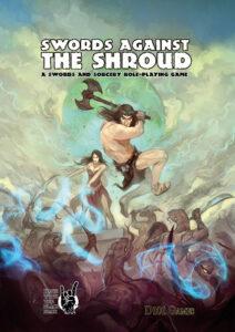 Swords Against the Shroud limited edition cover by Jon Hodgson